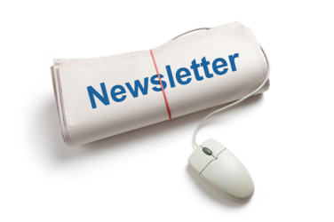 Newsletter with a computer mouse