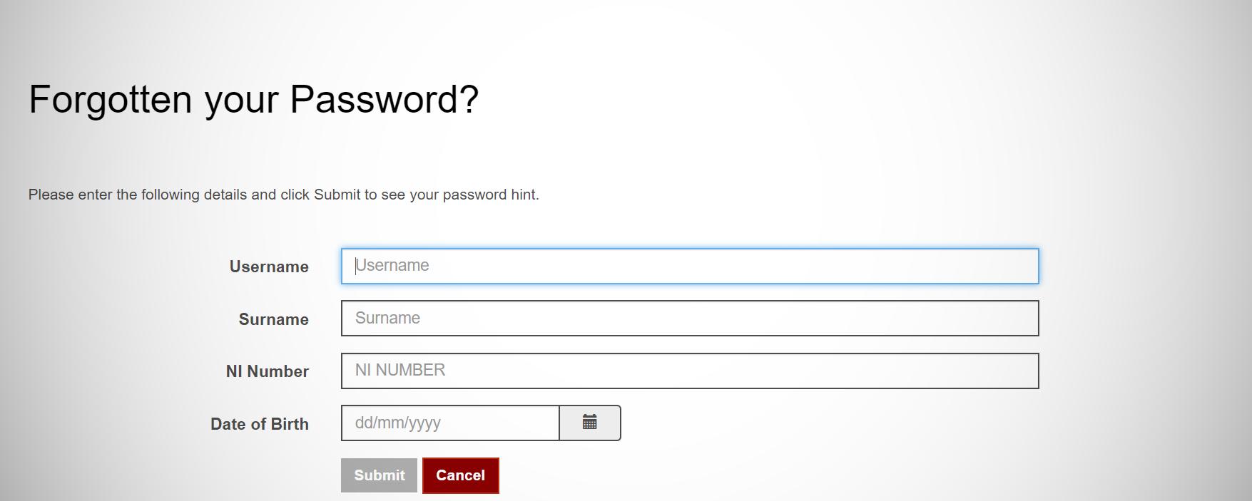 Password screen capture