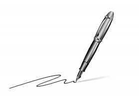 Signature with a pen
