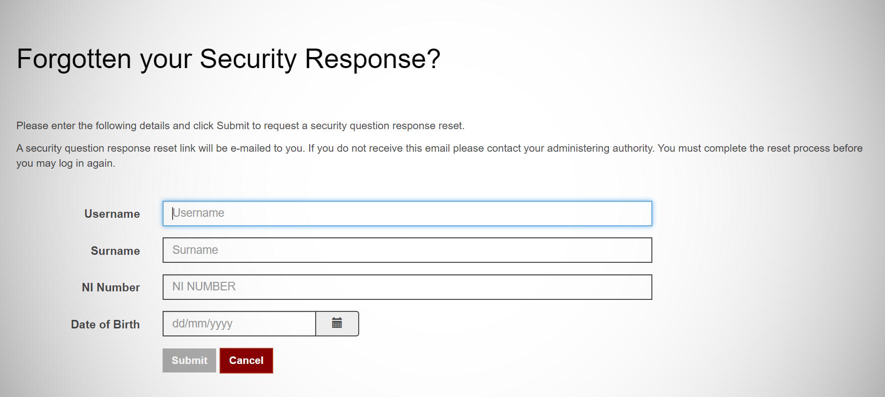 Security response screen capture