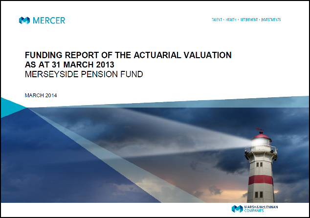 2013 Valuation Report Front cover